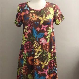 LULAROE Short Sleeve A-Line Swing T-Shirt Dress